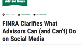 FINRA Clarifies What Advisors Can and Can't Do on Social Media